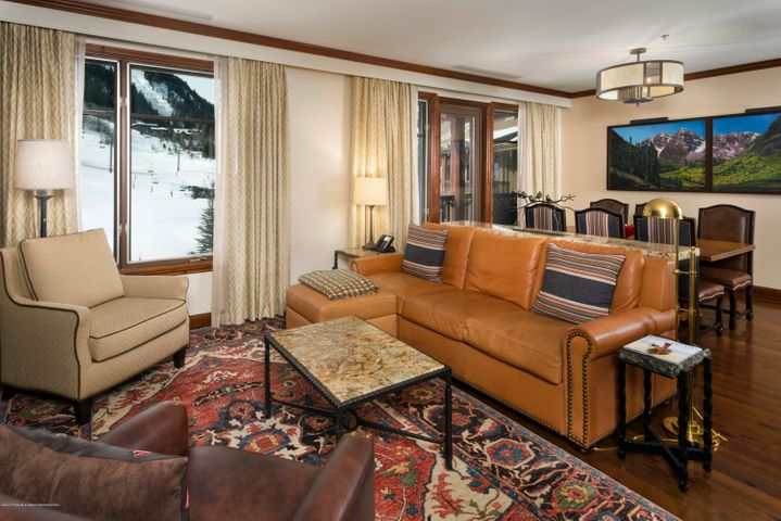 1/12 interest in a luxury condominium right at the base of Aspen Highlands ski area. Residence 8410 is considered to be the most desirable 2 bedroom of all. Top floor in the Elk Horn Lodge. Over 1700 square feet (per assessor), with balconies. Views of slope and village. Winter Interest #1 gets you 2 consecutive ski weeks, one summer week and one float week each year. Great ski weeks upcoming. You get February 27-March 13, and September 4-11, 2021. March 19-April 2, 2022. All the fabulous Ritz services and amenities including spa, pool, restaurant, concierge, shuttle and twice daily maid service. Trading privileges to other Ritz Residence Clubs in St. Thomas, Vail, Lake Tahoe and San Francisco. Affiliations with 3rd home and Marriott give you a world of vacation opportunities.