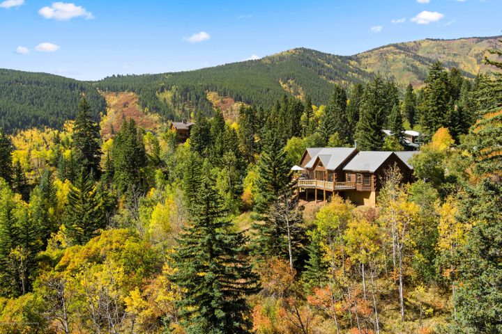 One of the premier lots in Ruedi Shores.  Perfect views of the water.  One level living.  Large family room/kitchen.  The ideal cabin in the woods.