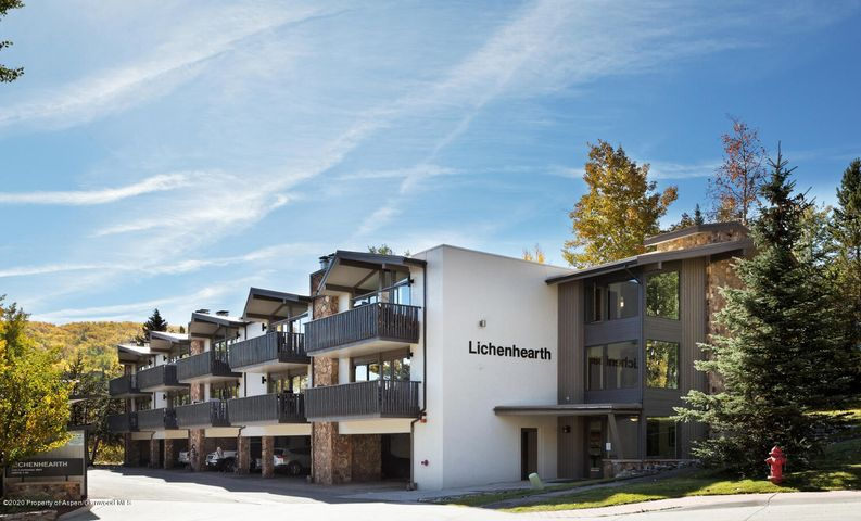 Lichenhearth 15 has all that you need! Great top floor one-bedroom unit centrally located in Snowmass Village. The unit has been a great income producer for the owners as well as a great mountain escape to enjoy. It has a large walk closet, updated shower, washer/dryer in the unit and updated appliances. Vaulted ceilings and the views of Brush Creek Valley make a big impact on this large one-bedroom. The complex is adjacent to Base Village and each unit has a covered, designated parking spot along with large storage unit. A large exterior renovation occurred in 2014, adding elevators and residing the buildings. No restrictions on usage or rental management either!