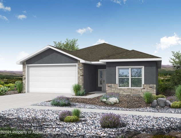 Home NEW Home! This new construction ranch style home features the convenience of single level living and a functional layout containing three bedrooms, two full bathrooms, and a two car garage. The exterior will feature an aesthetically pleasing stucco and stone finish. This new build is situated in the Promontory at Graham Mesa subdivision, and is in close proximity to all conveniences of town. There is still time to pick out your interior finishes including flooring, cabinetry, and countertops. The builder includes front yard xeriscaping to complete this adorable package!