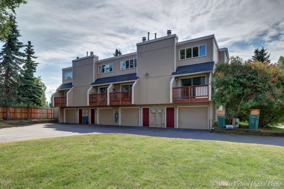 This west side townhome is in a great Mid-town location. Providing easy access to the fabulous Bike Trails that Anchorage has to offer along with other Parks nearby.This unique floor plan gives one the opportunity to be creative with the different levels.The oversized one car garage gives you plenty of room for the laundry area and a lot of storage.The outside common area is very well maintained.