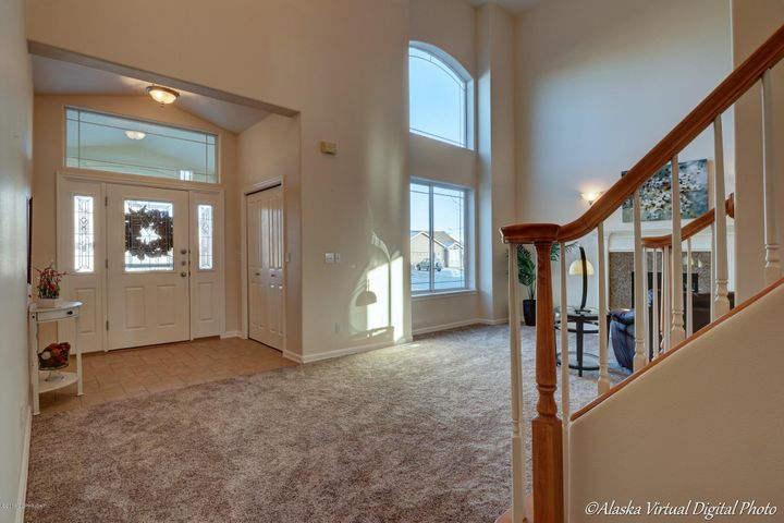 Grand Entrance with high ceilings.