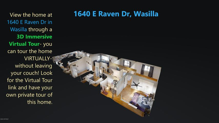 Look for the 3D REAL Virtual Tour under the virtual tour tab. Not just a slide show-a real VR tour of the home!