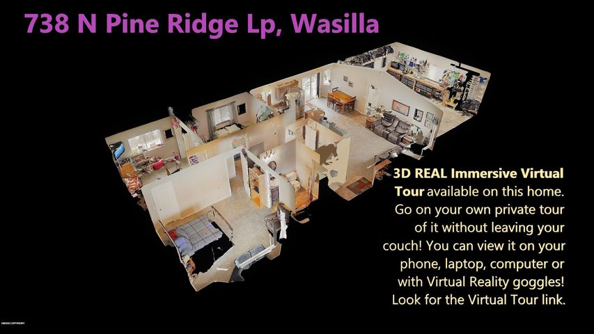 Look under the photos tab, then Virtual Tour tab for the 3D REAL Virtual Tour- you can tour the home VIRTUALLY!