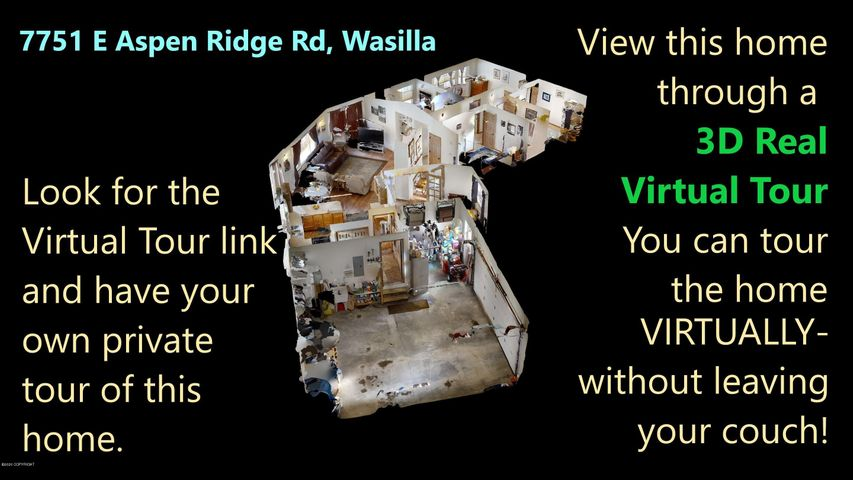 Look for the Virtual Tour tab (under photos or additional info) to see the Virtual Reality 3D Tour of this home!