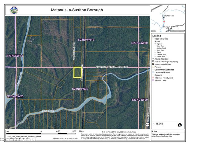 LOT1 BLK10 No Road Goose Creek Rec Area, Goose Creek Recreational Area, Talkeetna, AK 99676