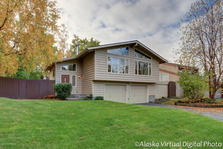 Welcome to Huntington Park! This move-in ready home is available now. In one of Anchorage most desirable neighborhoods. So many updates to  view. Beautiful yard and storage galore, even in the oversize garage.