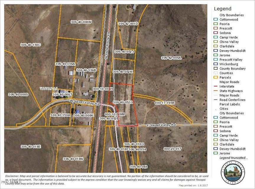 Map Of Highway 89 In Arizona.Land Xxxxx N Highway 89 Highway Chino Valley Yavapai Az 86323