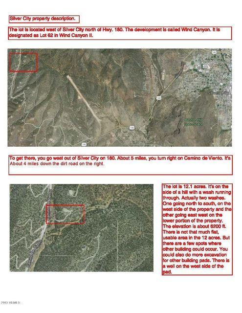62 E Camino De Viento Road Lot 62, Outside Arizona, NM 00000