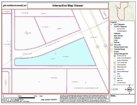 Land 19xxx Us 93 Highway Willow Beach Mohave Az 86445 Azco - Us-93-arizona-map