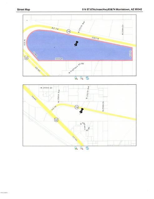 0 N Us 60 Hwy 74 Road Morristown Arizona Mls 5832405 - Us-60-map