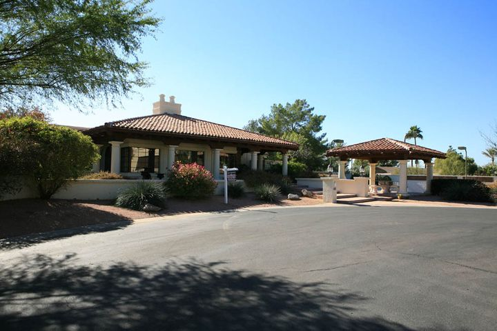 Terraced Entry ~ Ramada with Seating Enjoys Views of Camelback