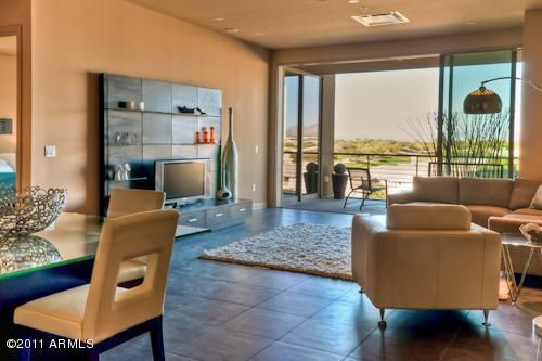 Great Room opens to Amazing Views of Golf Course, Mountains and City Lights!!