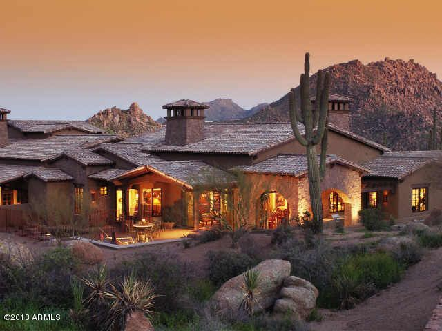 Located in North Scottsdale, The Rocks Residence Club offers villas with Pinnacle Peak and Troon Mountain views.