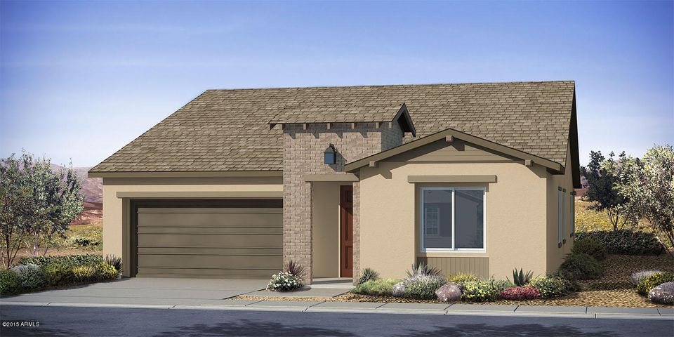 Rendering of home. Does not come with brick as shown.