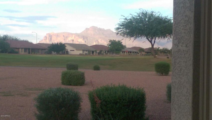 Standing/Sitting on Patio or on Couch in Livingroom you can see Superstition Mountains.