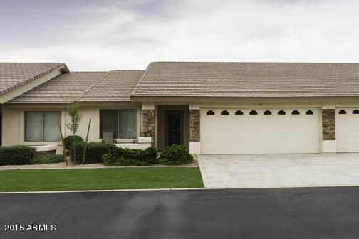 2 bedroom, 2 car garage, golf course condo.