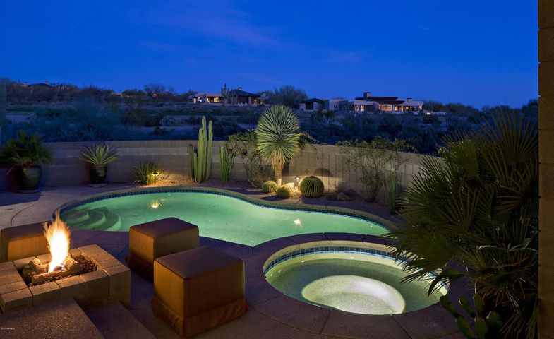 Inviting Pool, Spa with Fire Pit for conversations