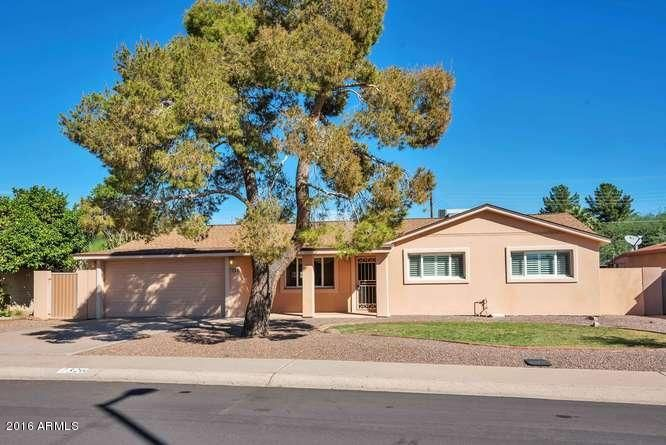 Four bedroom, two bath home nestled in a popular south Scottsdale location.