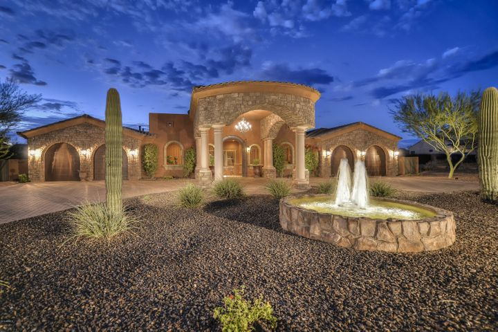Spectacular front elevation commands a grand presence