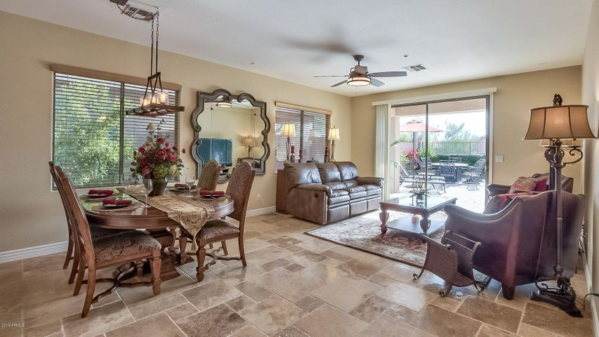 Versaille travertine and upgraded baseboards throughout the living areas.