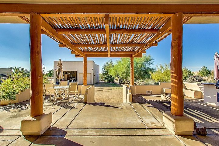 Custom awning shades the patio just right