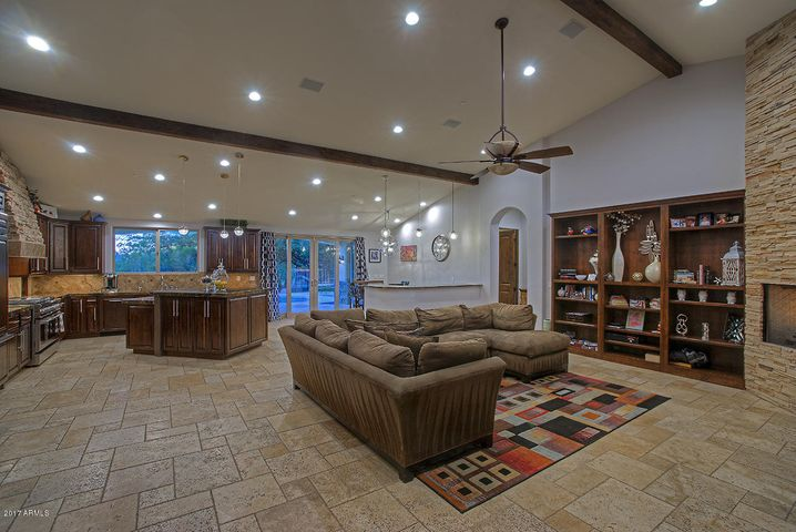 Substantial Family Room with Vaulted Ceiling