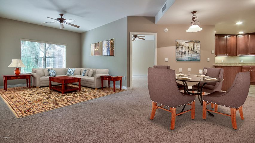 Note: The furniture in these pictures are virtual, and used for placement possibilities only.