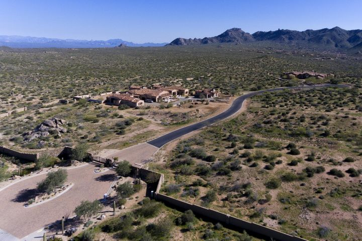 Backing to the Sonoran Desert Preserve, Cantabrica Estates offers the last of this type of privacy and open space. Two homes built now, 7 parcels are still available and range in size from approximately 2.5 to 4 acres.