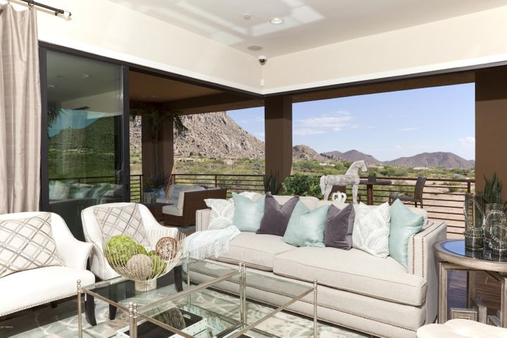 Great Room with sliders open to patio. Must see Troon Mtn Views!