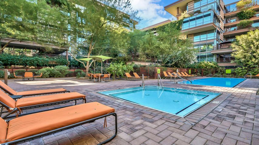 Two outdoor pools and hot tubs and one indoor pool and hot tub.