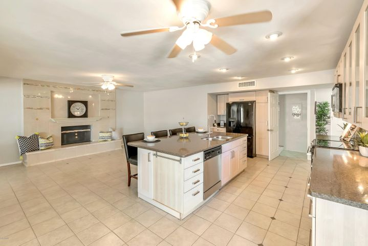 Large open kitchen & family room!