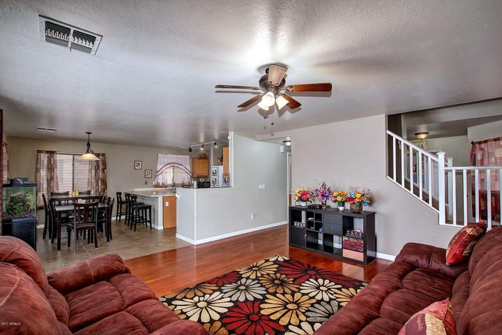 Great Living Space, Open to Kitchen and Dining.