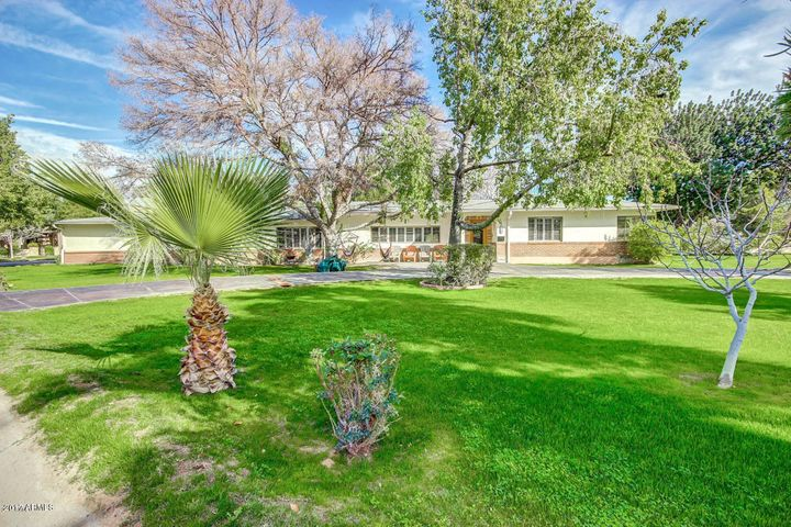 Expansive front lawn