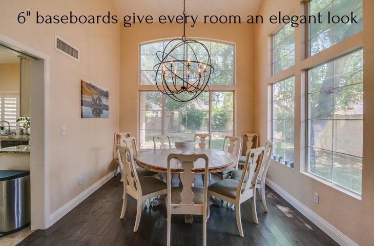 "6"" baseboards give every room an elegant look"