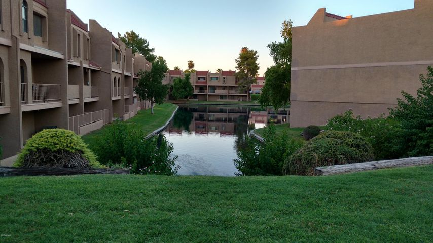Beautiful lake view at sunset. Unit is on the right