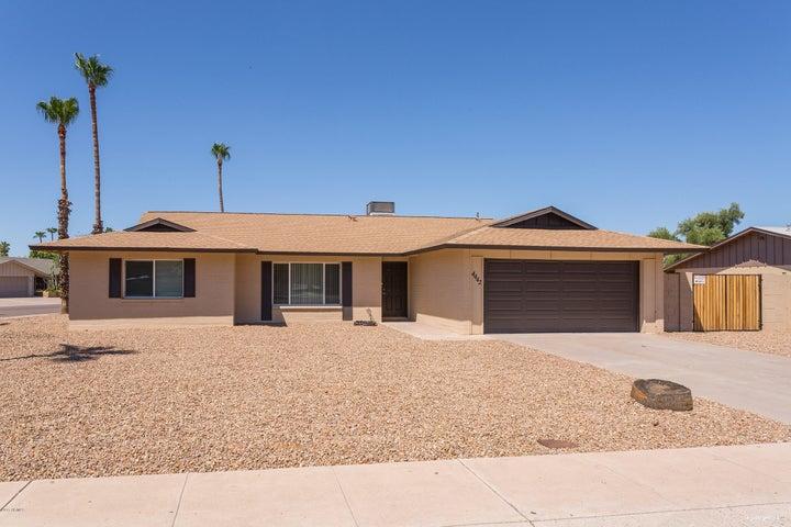 Over 1/4 acre corner lot in Tempe brand new exterior paint, new garage door, RV gates and desert landscaping!