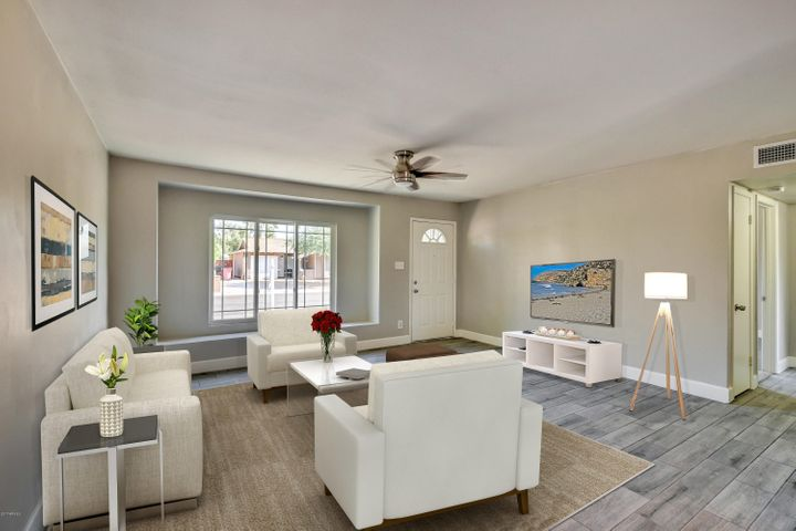 """Very sleek with 6"""" baseboards, smooth texture walls with gorgeous tile work."""