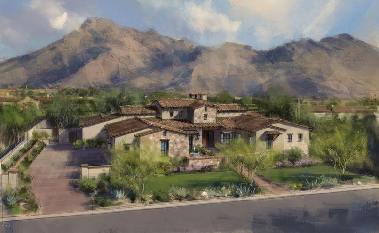 Artist's rendering of home to be built.