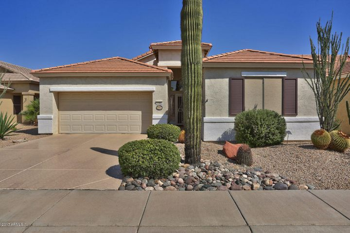 Located in the guard-gated 55+ community of Arizona Traditions, this lovely home has great curb appeal!