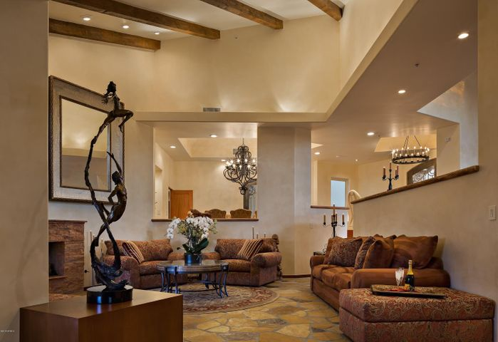Casually Elegant, Warm, Inviting and Open, But Defined Living Room