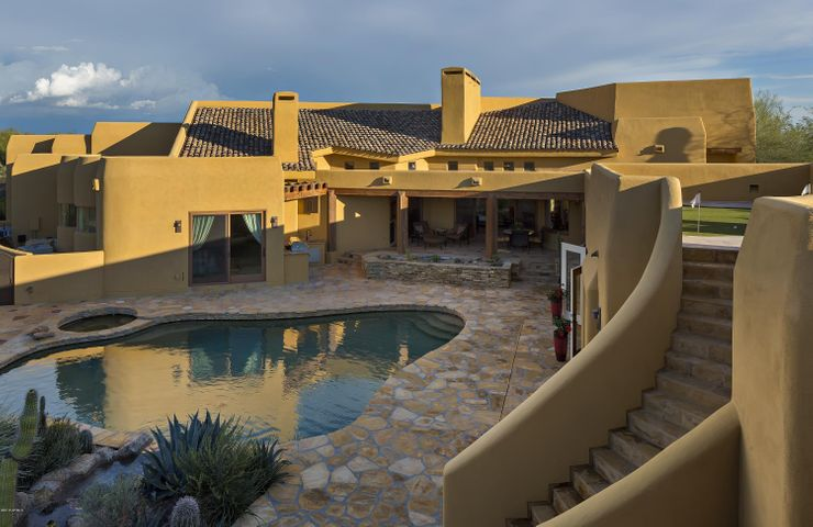 Recently Updated Pool, Spa & Patio, Deck With Stack Stone Edge Detail