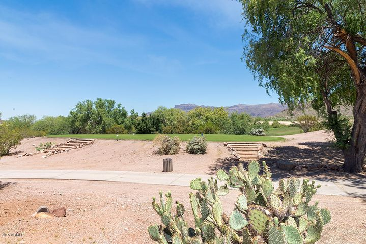 It's a perfect golf course location providing privacy and safety. Nice wide buffer area from the cart path too. What you see is the tee box - heading in the other direction, away from the home.