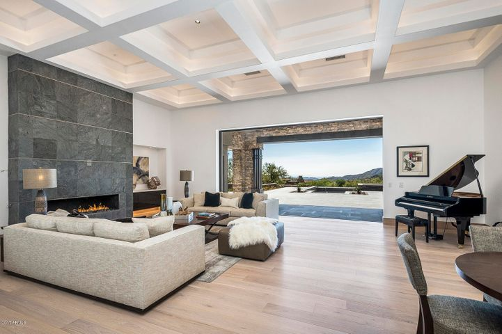 Great Room floor plan with Vista Oak wood floors with a matte finish.