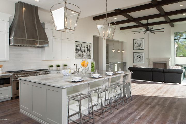 Chef's Kitchen with Wolf, SubZero and Bosch Appliances.