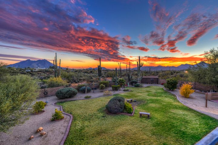 View from Master Suite Balcony! You will never tire of the Arizona sunsets!