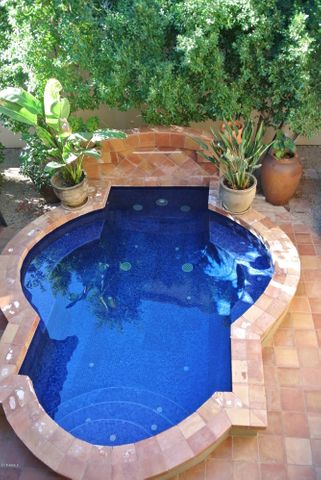 5 foot deep courtyard pool for the ultimate in Privacy and fun