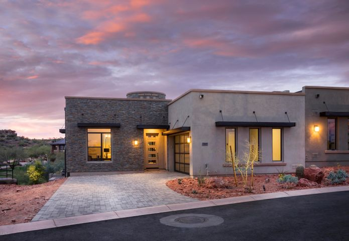 Desert Contemporary Home with Side Entry Garage
