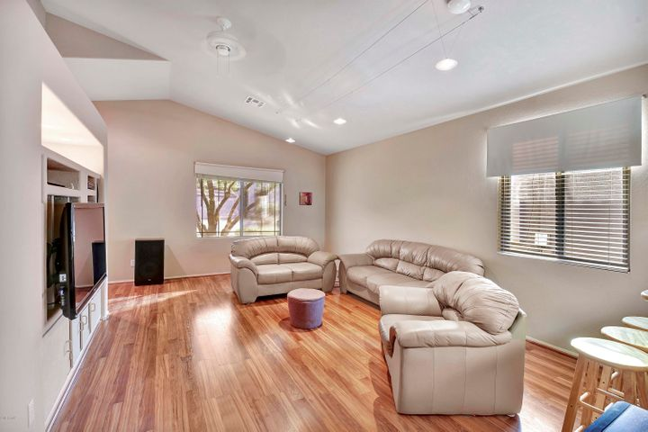 Great room with high ceilings