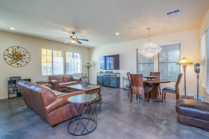 Notice the amazing polished concrete floors in the living area!